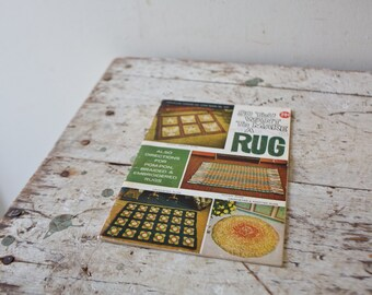 So You Want to Make a Rug Book Tutorial DIY Magazine Rug Workbook Rug Magazine Learn Rug Making Vintage Textile Art