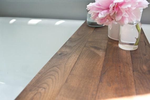 Rustic Wood Bathtub Tray Walnut Bath Tub Caddy Wooden | Etsy