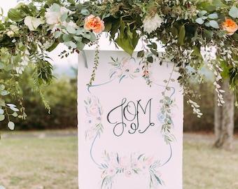 Custom Bouquet Painting, Watercolor Floral Painting, Wedding Flower Painting, Wedding Bouquet Painting, Nursery Florals, Nursery Flowers