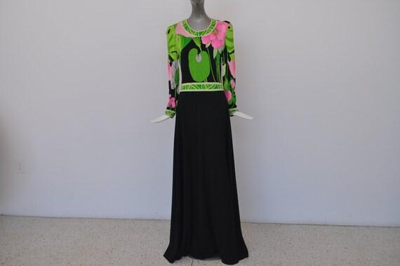 1970s Leonard maxi dress
