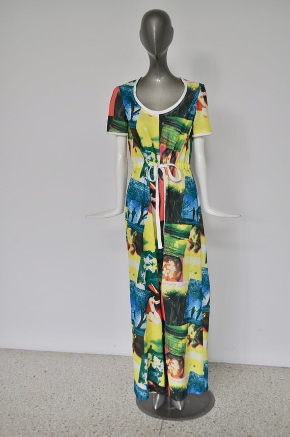 Palazzo Jumpsuit 1970s great print