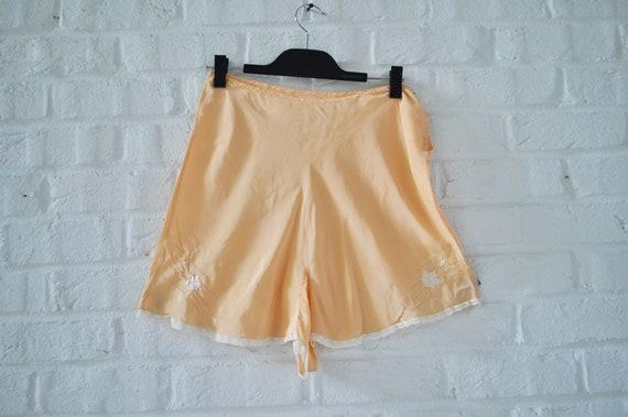 1920s silk pantaloon short Vintage Lingerie