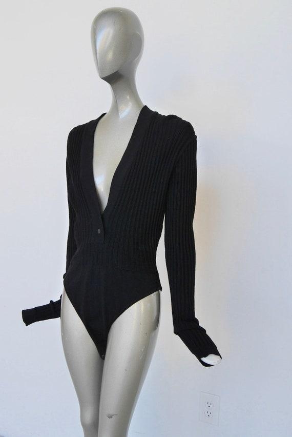 Alaia body suit wool Azzedine Alaia body 90s