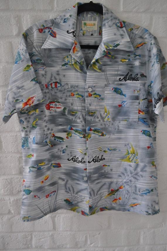 Hawaiian shirt 70s Mens