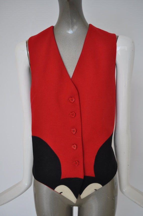 Moschino mickey mouse vest 1980s