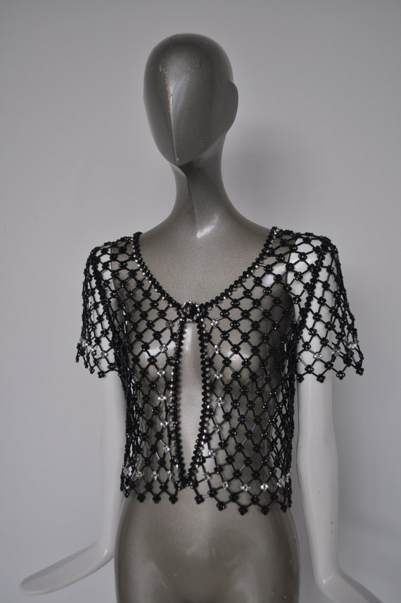 Beaded top 1970s Azzaro - image 1