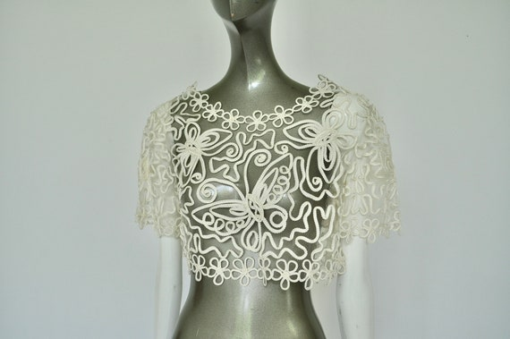 Handmade lace top from the 1930s