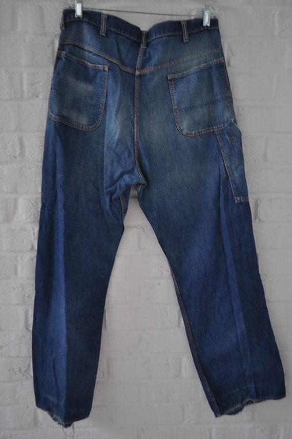 Vintage Mens sanforized denim Jeans circa 1940s - image 6