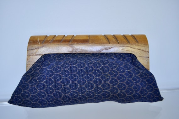 1940s clutch wood and cotton