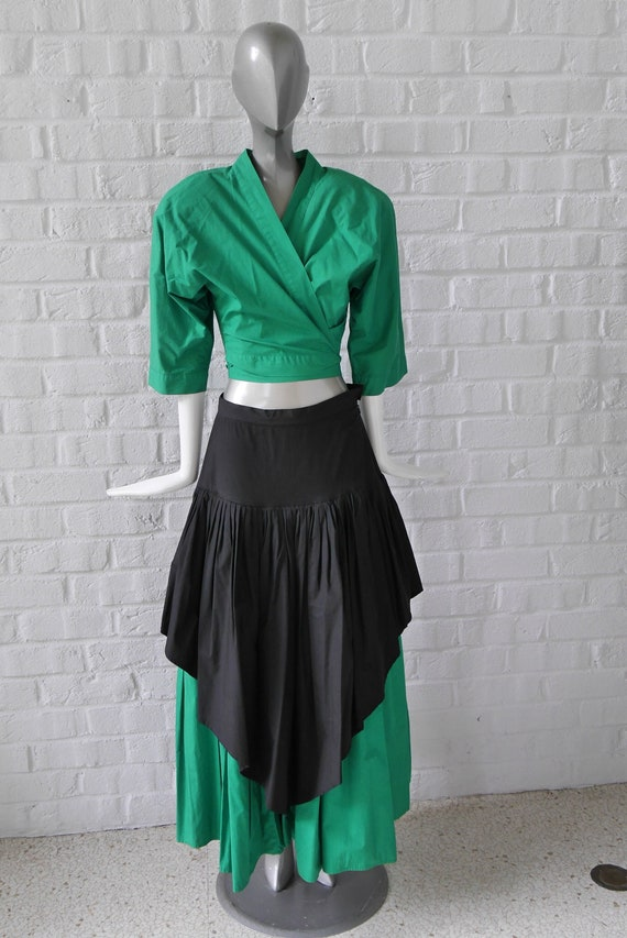 Norma Kamali 2 piece skirt suit 90s