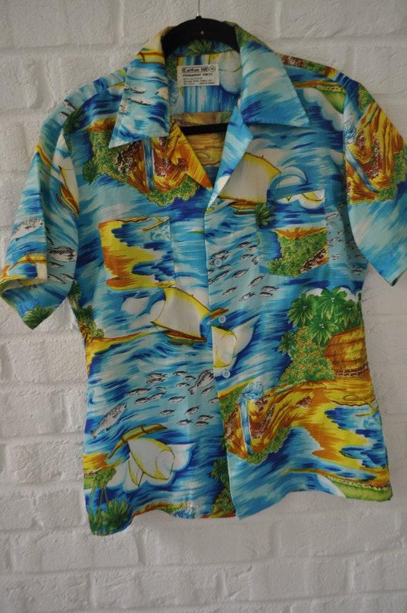 Hawaiian shirt Mens 70s