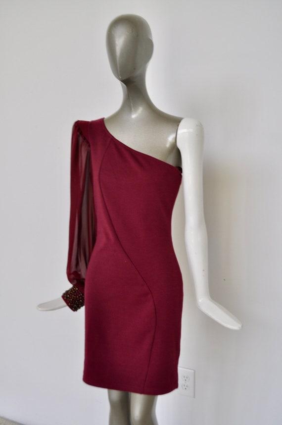 Off shoulder mini dress 90s