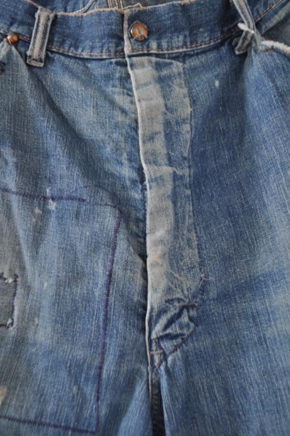 Vintage Mens sanforized denim Jeans circa 1940s - image 5