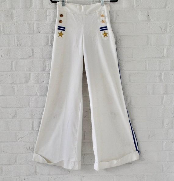 High waist wide leg Marine pants late 70s