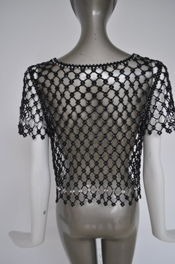 Beaded top 1970s Azzaro - image 5