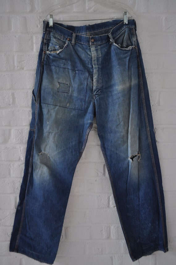 Vintage Mens sanforized denim Jeans circa 1940s