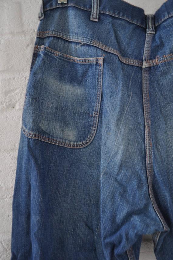 Vintage Mens sanforized denim Jeans circa 1940s - image 8