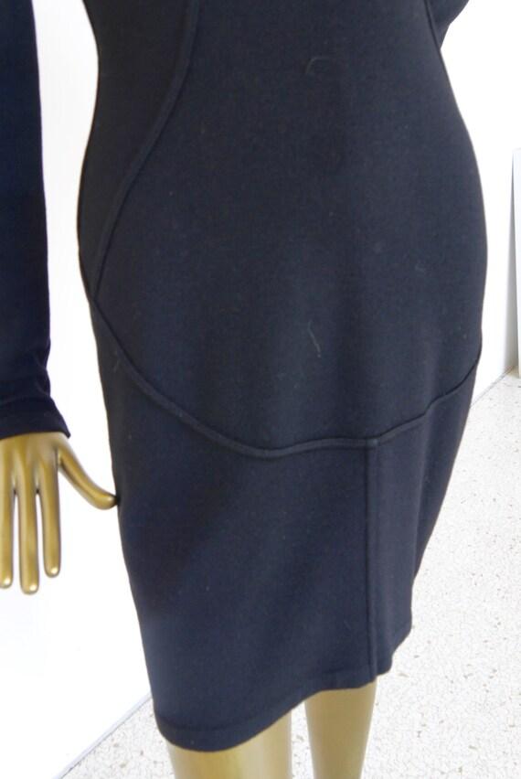 Alaia wool pencil dress 1992 Azzedine Alaia dress - image 4