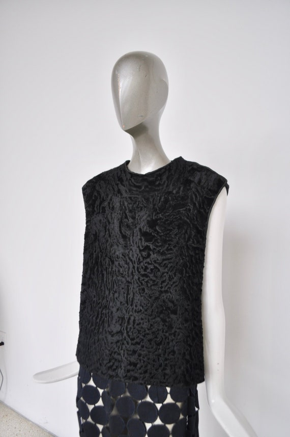 60s Broadtail top sleeveless very mod