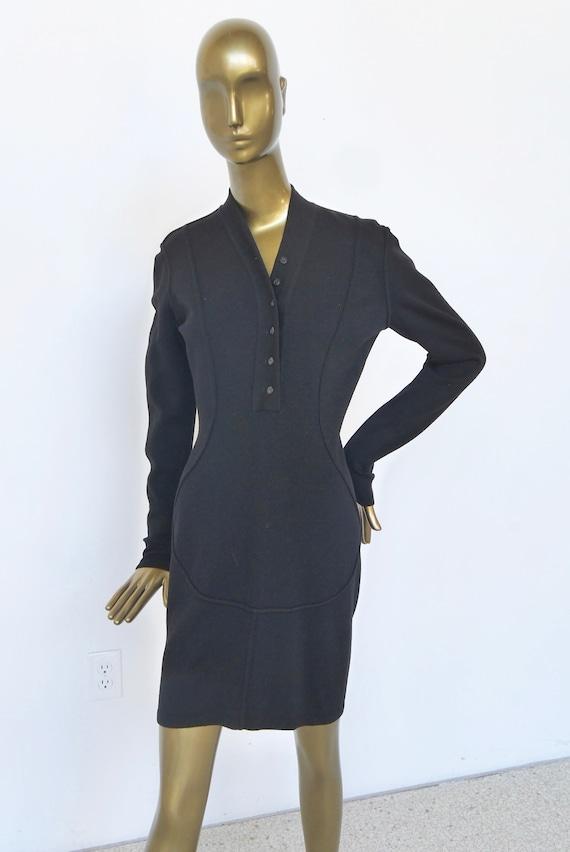 Alaia wool pencil dress 1992 Azzedine Alaia dress - image 3