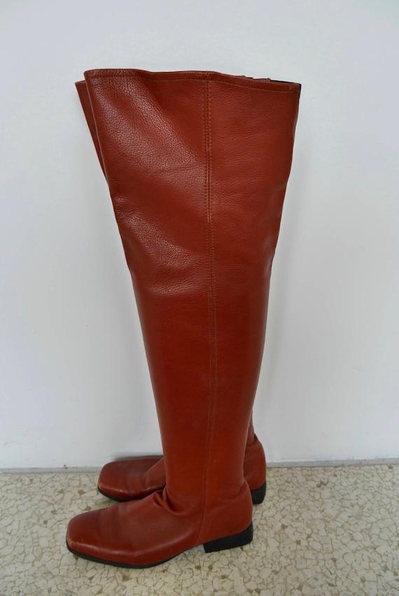 Arche Arche Arche France knee-high Boots all leather 80s | De Qualité  f30e92
