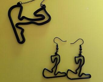 Grandprix  jewelry, Zandvoort circuit necklace, Formule 1 MotoGP track Netherlands, GP F1 racing gifts him and her, boys, girls, men women