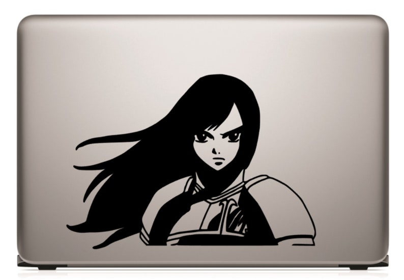 erza scarlet anime decal etsy