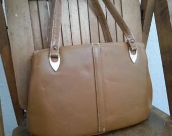 CARAMEL   ///   Leather 1950s Handbag