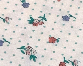 1970/'s material Retro free shipping sewing supply Vintage Fabric textile Sailboats 50L x 44W Nautical