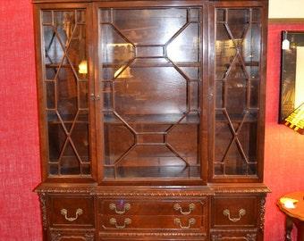 Victorian Mahogany China Cabinet