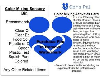 Sensory Bin Activity Cards DIGITAL COPY