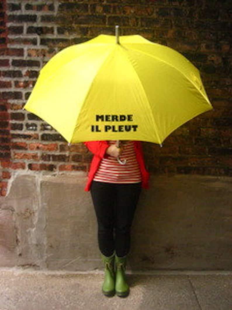 Merde Il Pleut Umbrellas image 0