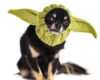 Baby Alien Dog Snood | Knit Crochet Dog Hat | Halloween Dog Costume | Ear Warmer