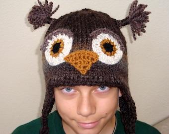 ddaca43bf6d Adult owl hat