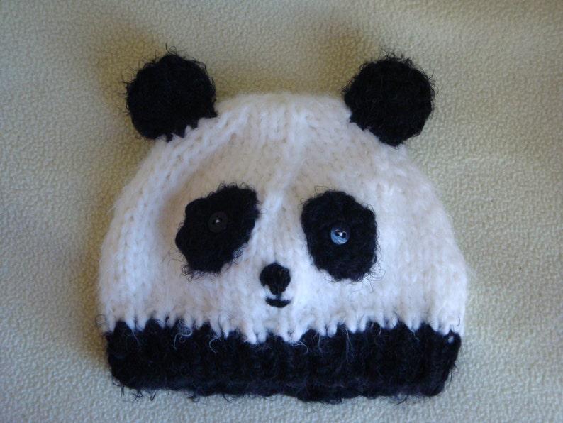 e277d6c6e8d Panda Bear Hat Panda Beanie Baby Panda Hat Toddler Panda Hat