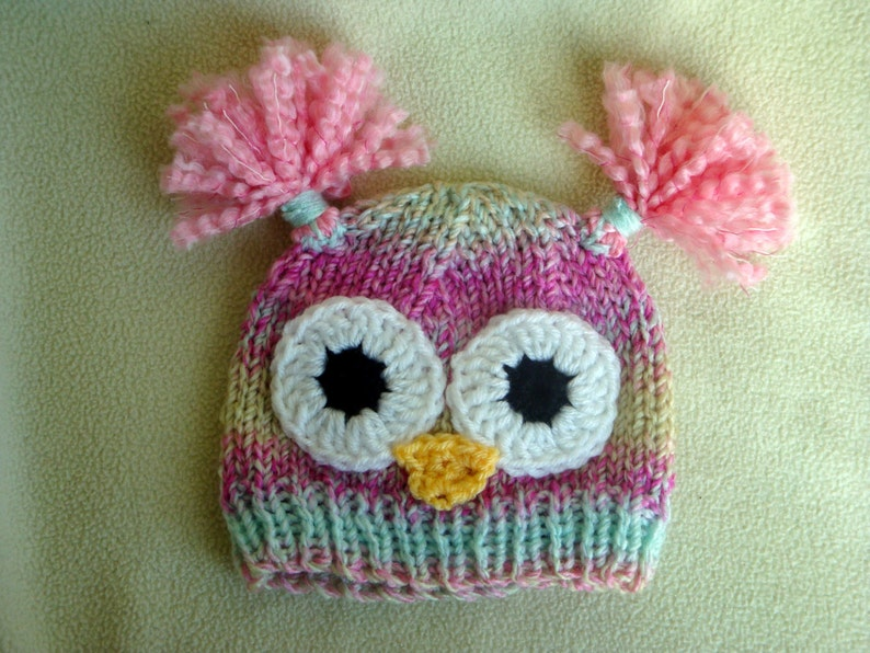 b4d59b00eec Baby Owl Hat Toddler Owl Hat Pink Owl Hat for Baby Girls