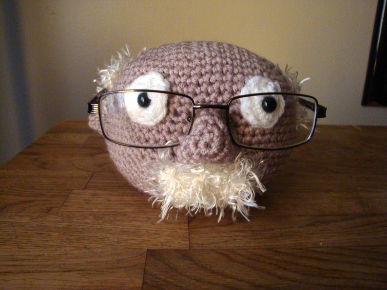 b061d23d3b0 Eyeglasses Stand Crochet Old Man Glasses Stand with Mustache
