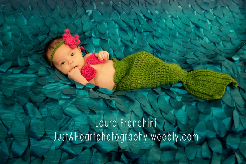 ff48c11647b Crochet Mermaid Outfit Mermaid Tail Bikini Top and Starfish
