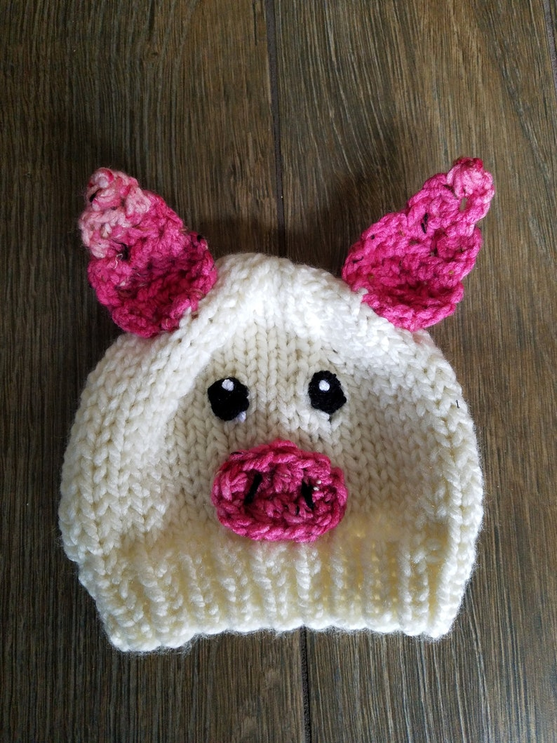 1500eb71ec80e3 Newborn Baby Pig Hat Pig Hat for Toddlers Piggy Hat for Baby | Etsy