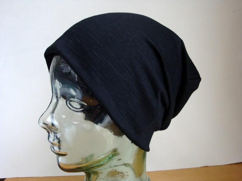 bfb529a45d8 Light-Weight Slouch Hat Hipster Beanie Black Slouchy Hat