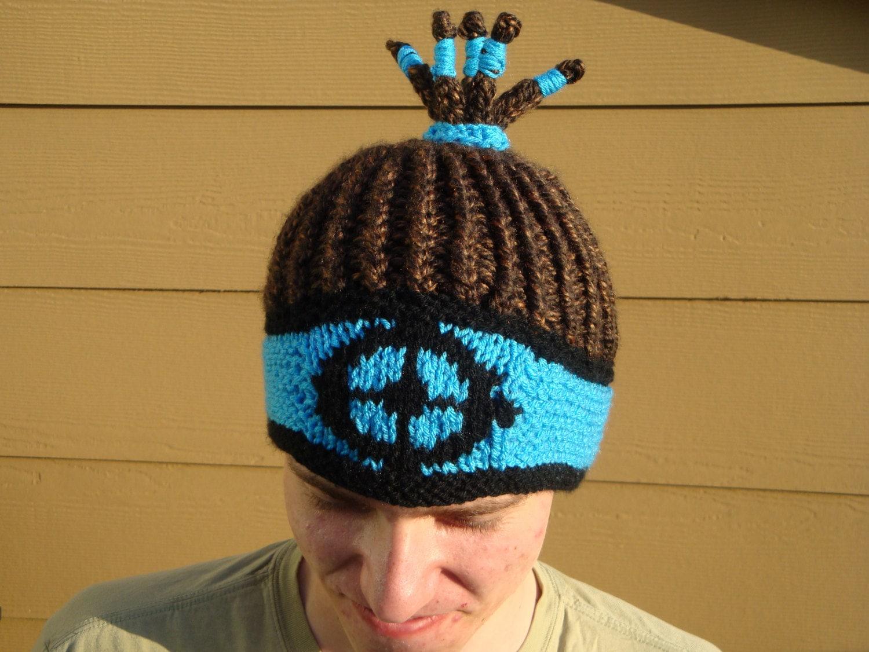 TF2 Reggaelator inspiriert Hut Mütze mit geflochtenen Haaren