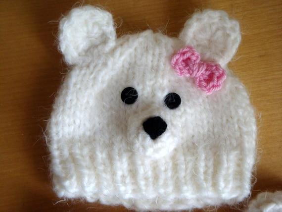 Bonnet de bébé ours polaire ou ours en peluche chapeau   Etsy bc4848227c4