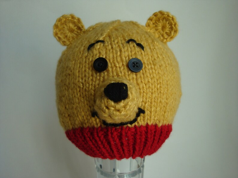 0da10e5861c0 Winnie the Pooh Hat or Pooh Bear Hat for Baby and Toddlers