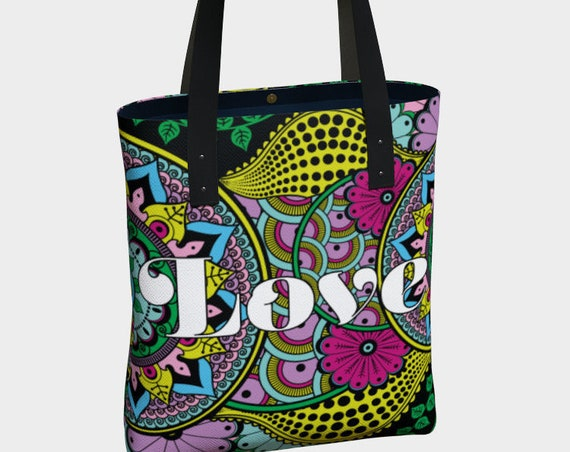 Love Mandala Premium Tote Bag