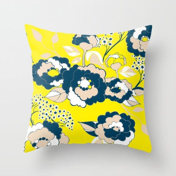 Pop Florals in Citrus Pillow