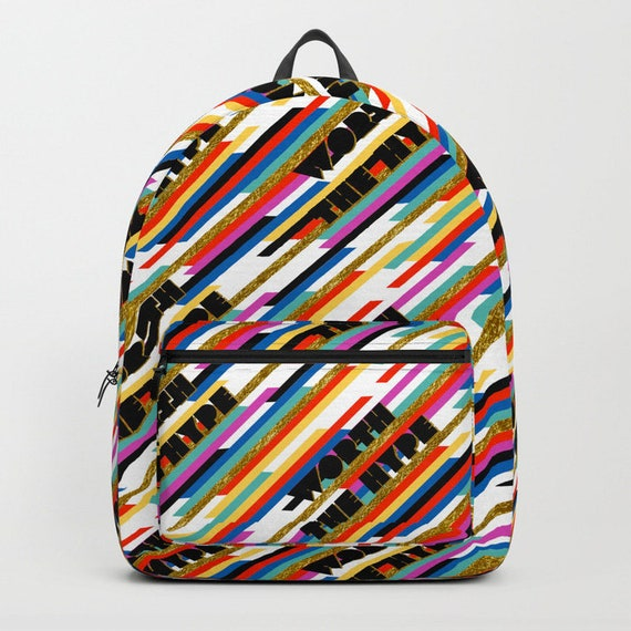 Worth The Hype Stripe Backpack