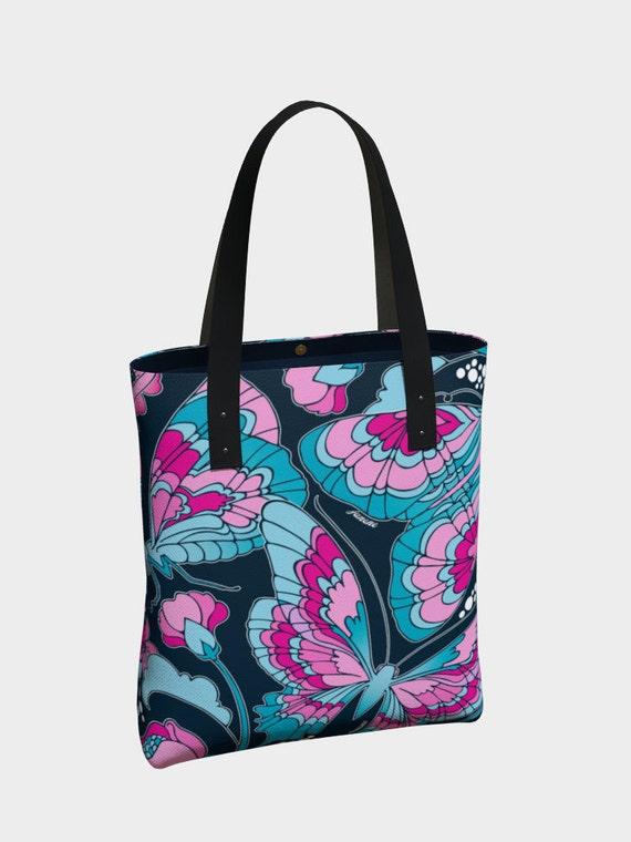 Butterflies in Blue Premium Tote Bag