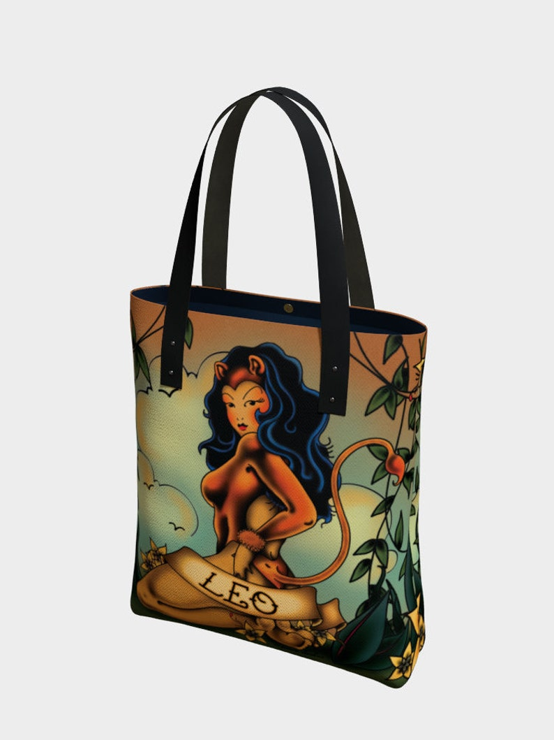 3e1a26b14ec7 Leo Tattoo Premium Tote Bag