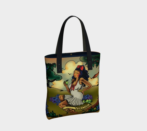 Virgo -Tattoo Premium Tote Bag
