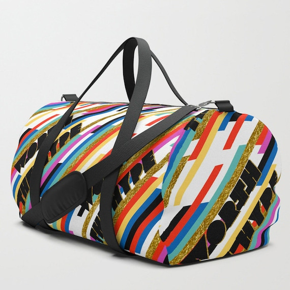Worth The Hype Stripe duffle bag